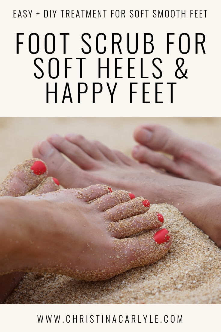 Natural DIY Coconut Oil Foot Scrub Treatment For Soft Heels And Feet https://christinacarlyle.com/coconut-oil-gym-pedicure/