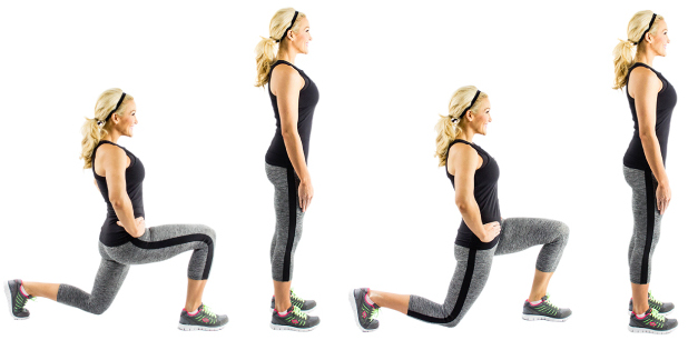 walking-lunges lower body leg exercise christina carlyle - Christina ...