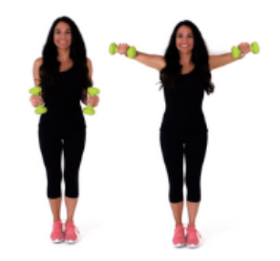 Chicken Wing Back Fat Exercise being done by Trainer Christina Carlyle