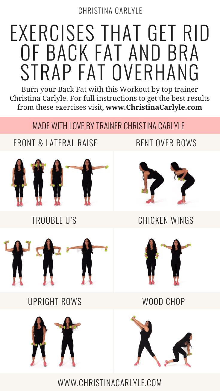 Christina Carlyle doing a Back Fat exercises in a Workout