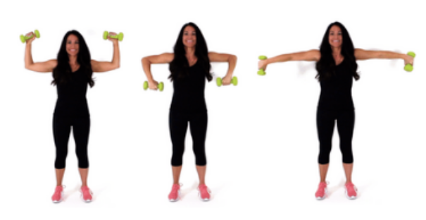 Trouble U Back Fat Exercise being done by Trainer Christina Carlyle