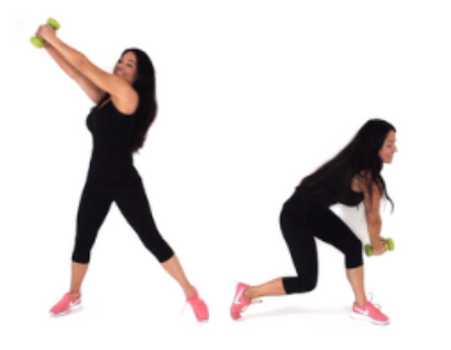 Woodchop Back Fat Exercise being done by Trainer Christina Carlyle