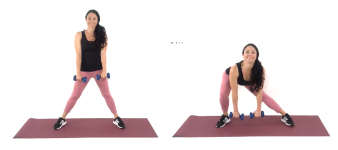 Curtsey Lunge lean leg exercise being done by Christina Carlyle