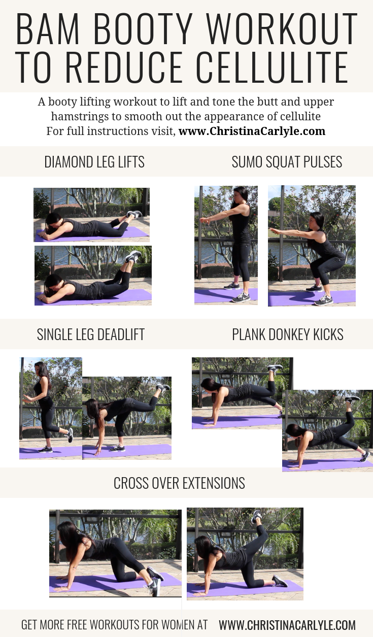 workout for butt cellulite Christina Carlyle