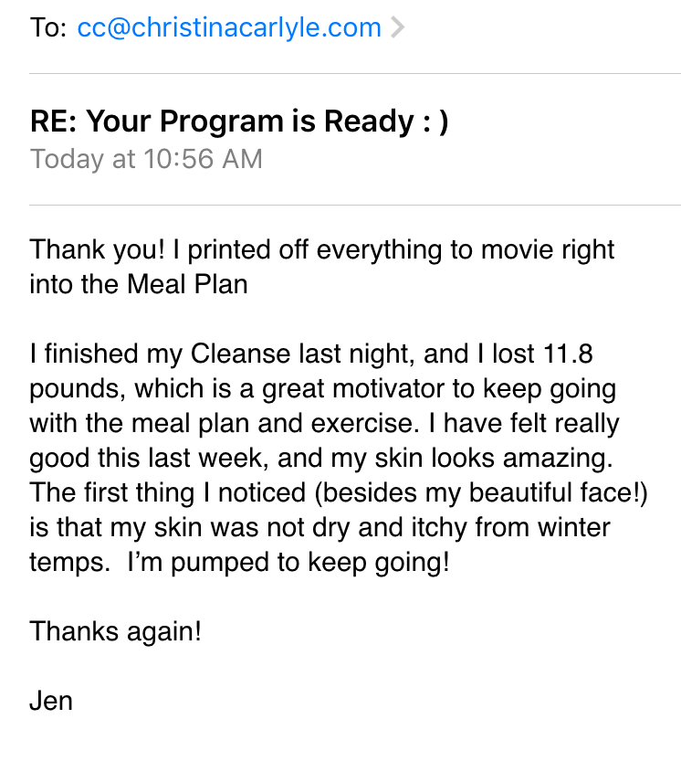 Reset Cleanse Review - Christina Carlyle