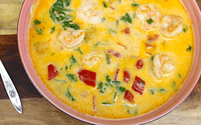 Healthy Thai Coconut & Shrimp Soup Recipe