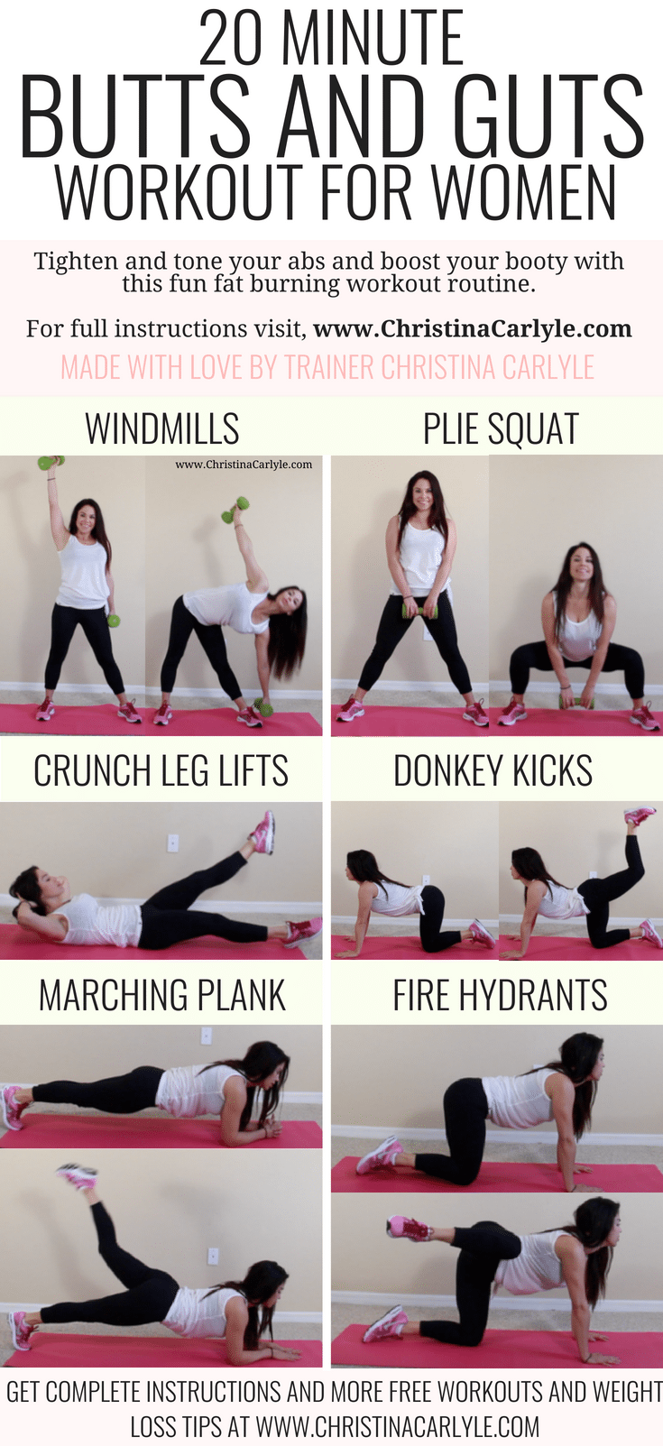 Booty And Ab Workout Routine For A Bigger Butt And Flat Stomach-3577