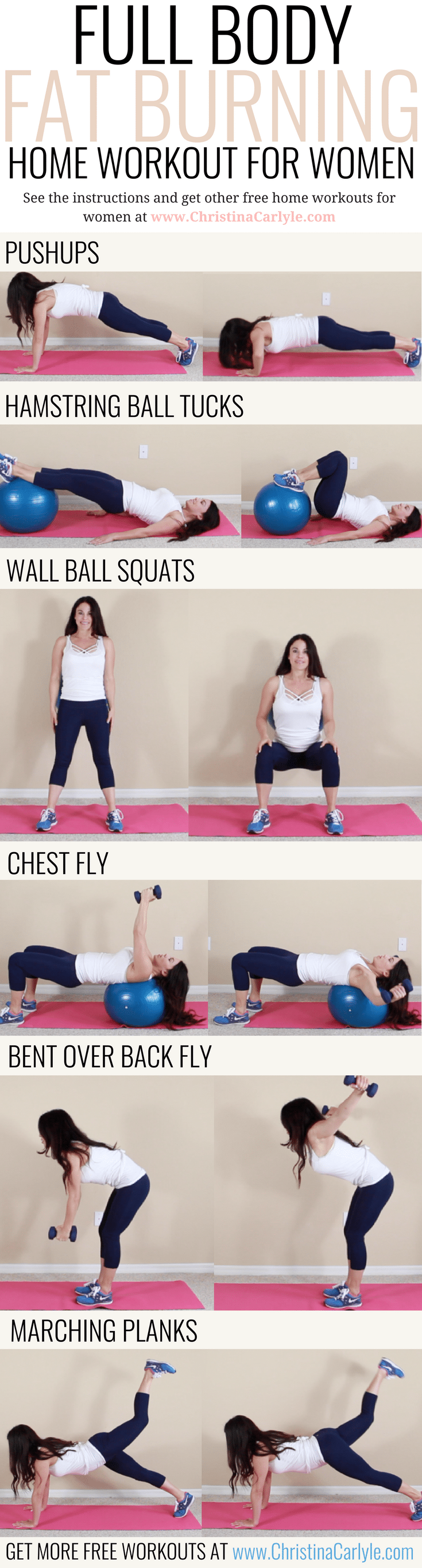 Full Body Fat Burning Workout Routine for Women Christina Carlyle