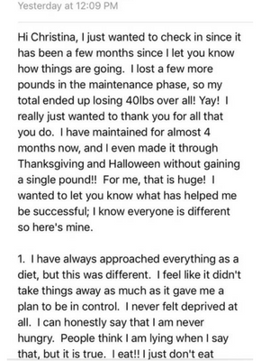 Linda Total Transformation Challenge Results - Christina Carlyle