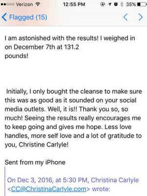 sam Reset Cleanse Results - Christina Carlyle
