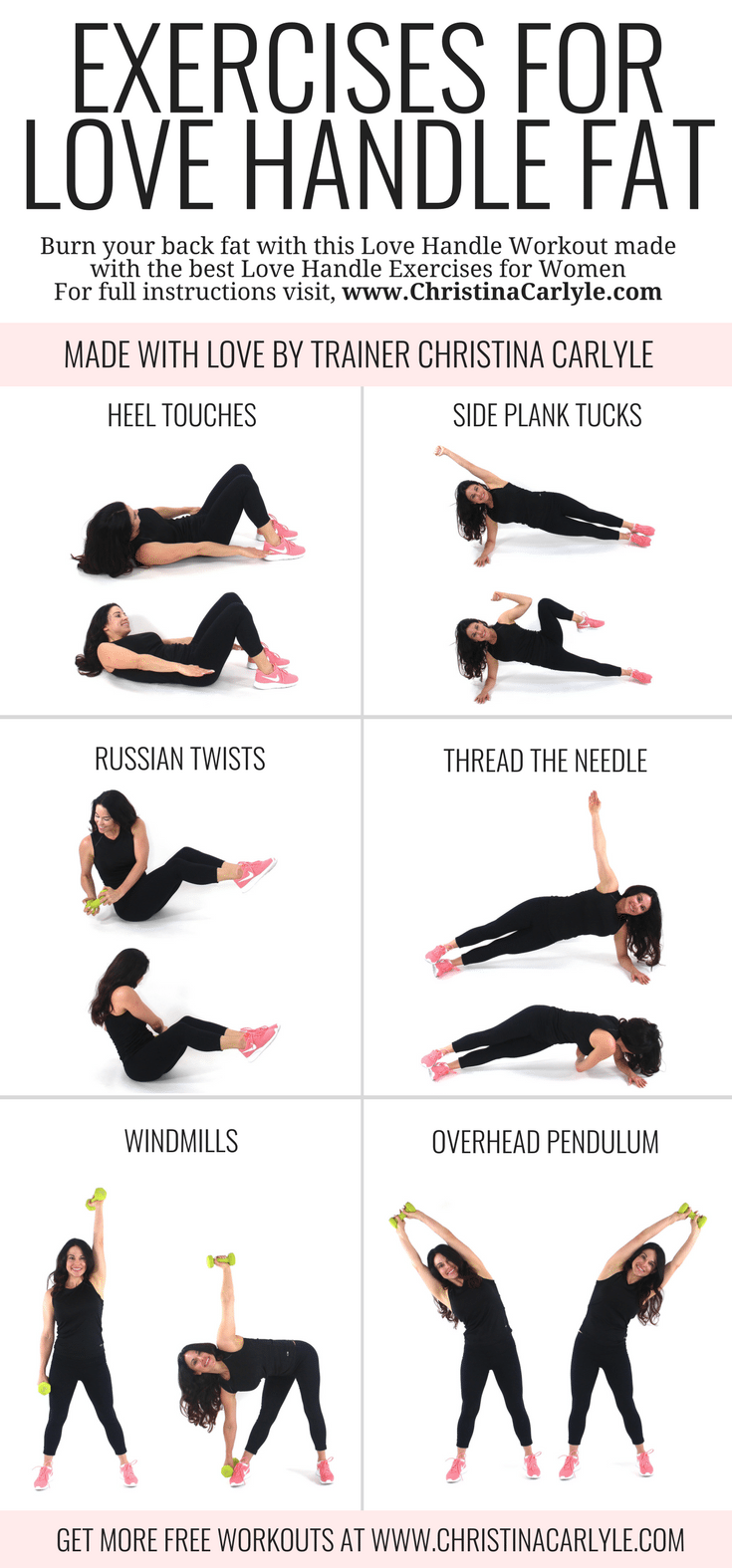 Exercises that get Rid of Love Handles Christina Carlyle