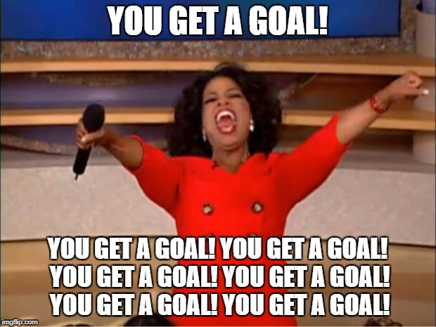 Motivational Goal Setting Oprah meme