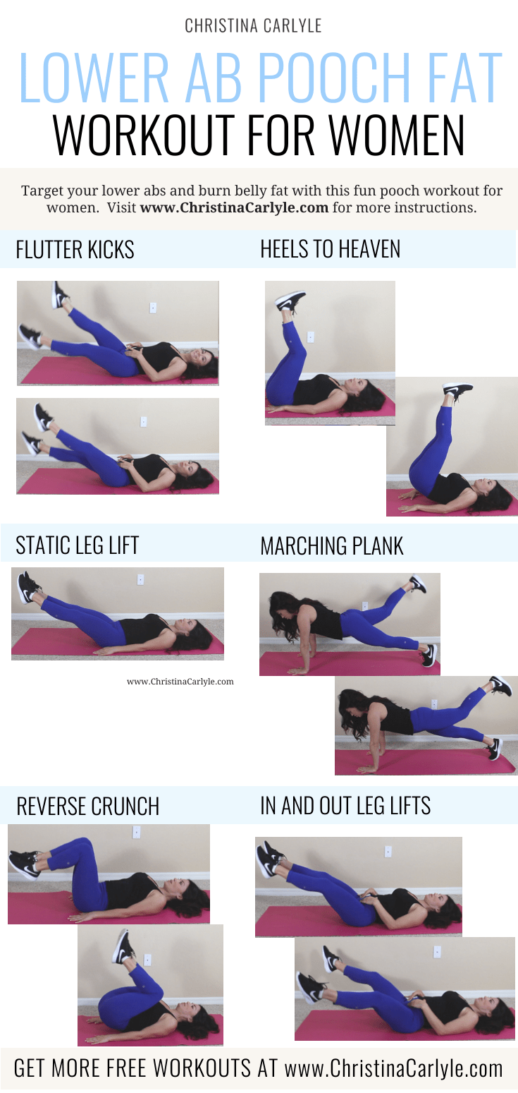 Lower Ab Exercises for Women done by Christina Carlyle