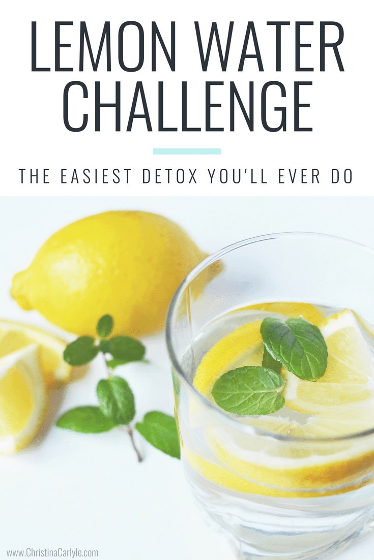 The easiest detox you'll ever do! Show your liver some love with this 30 day Lemon water Challenge - https://christinacarlyle.com/lemon-water-challenge/
