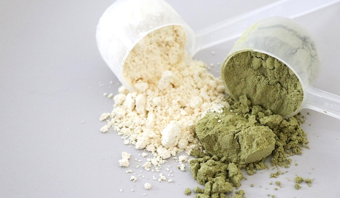 two different protein powders