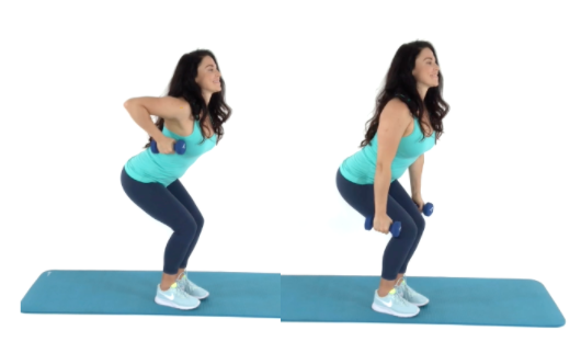 Pull your pants up exercise being done by trainer Christina Carlyle