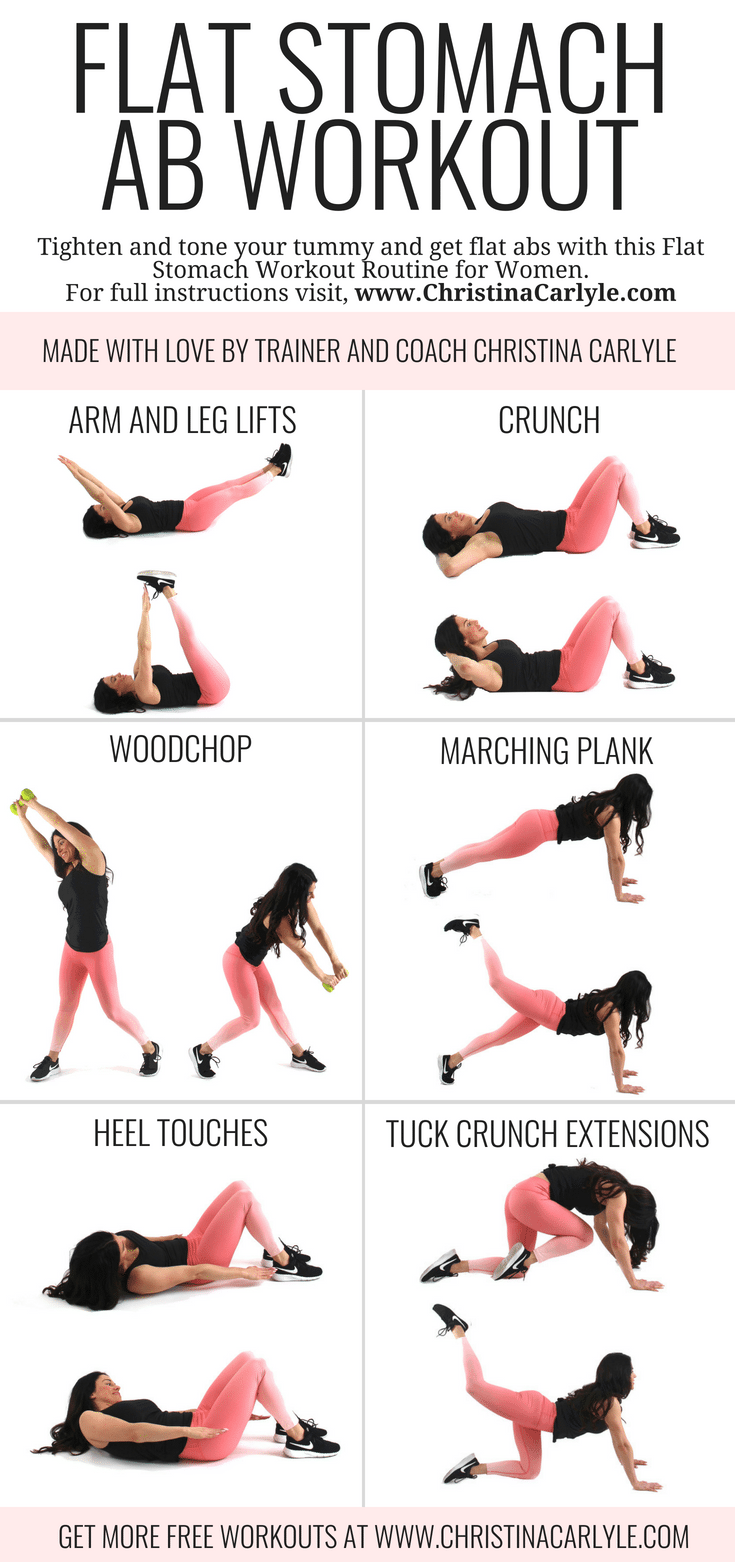 Ab workout for a flat stomach Christina Carlyle