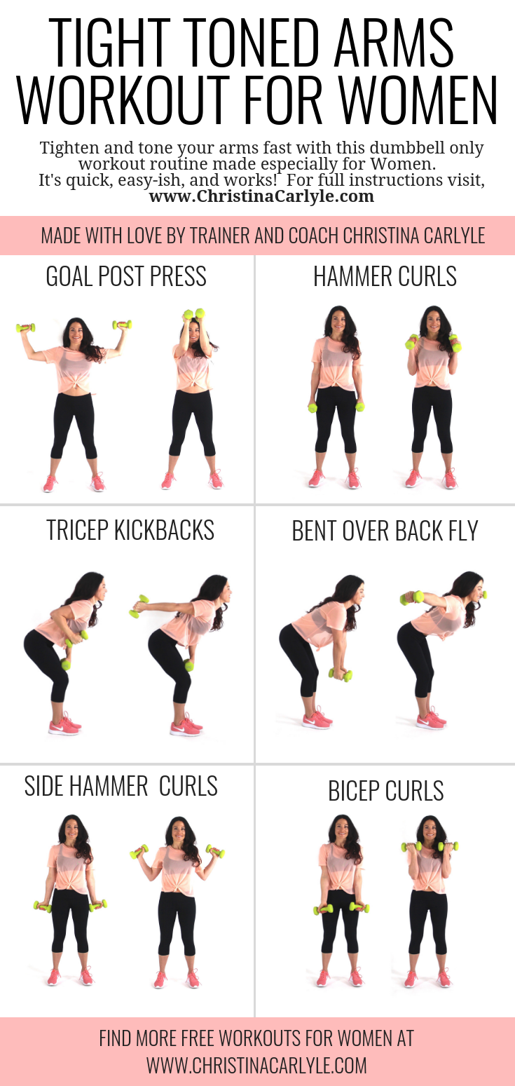 arm workout for women with dumbbells Christina Carlyle
