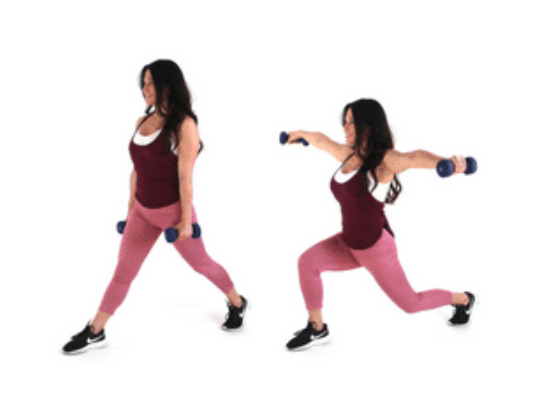 lunge extension hiit exercise done by Christina Carlyle