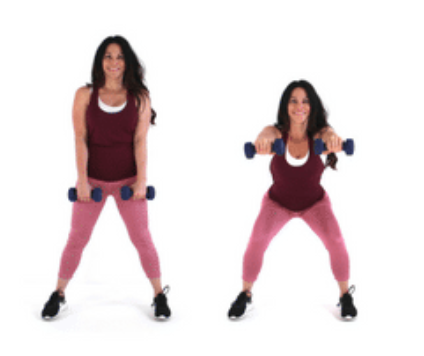 squat extension hiit exercise done by Christina Carlyle