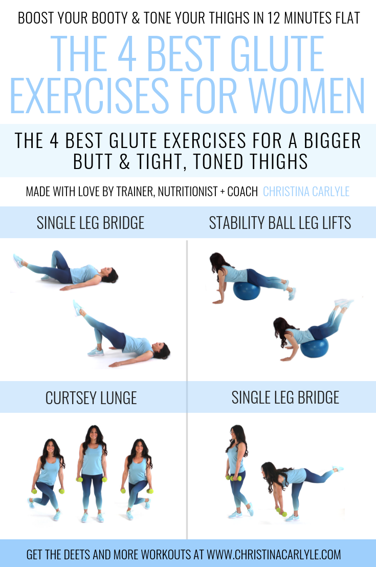 Glute Exercises done by Christina Carlyle