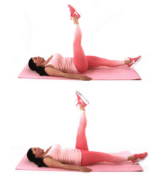 Scissor Kick Belly Fat Exercise being done by Christina Carlyle