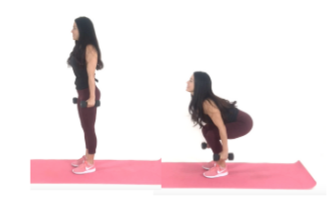 Squat Glute Exercise being done by Christina Carlyle