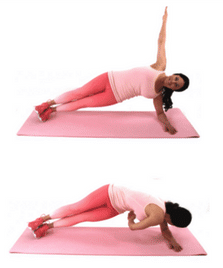 Thread the Needle Belly Fat Exercise being done by Christina Carlyle