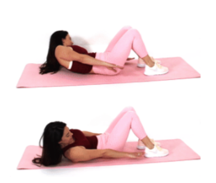 Heel Touch Exercise done by Christina Carlyle
