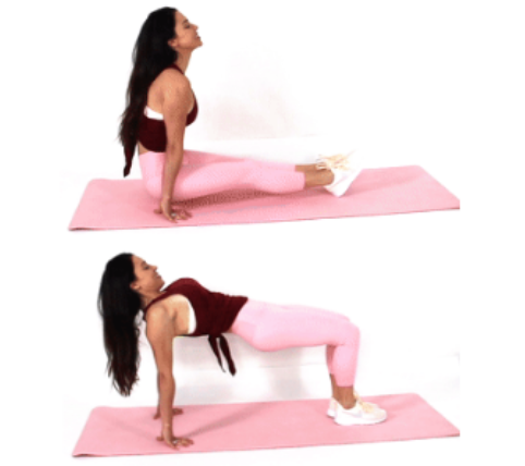 Sit Through Glute Exercise done by Christina Carlyle