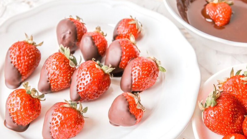 Chocolate Covered Strawberries on a table