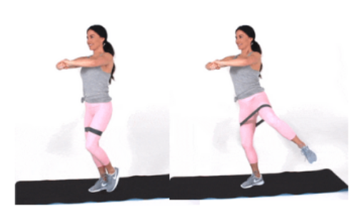 Resistance Band Ballet Leg Lift Exercise done by Christina Carlyle