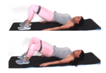 Bridge Resistance Band Leg Exercise done by Christina Carlyle