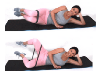 Clam Resistance Band Exercise done by Christina Carlyle