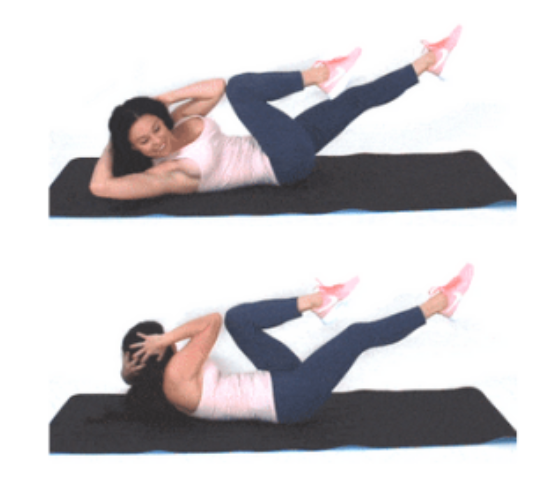 Bicycle Crunch Exercise Christina Carlyle