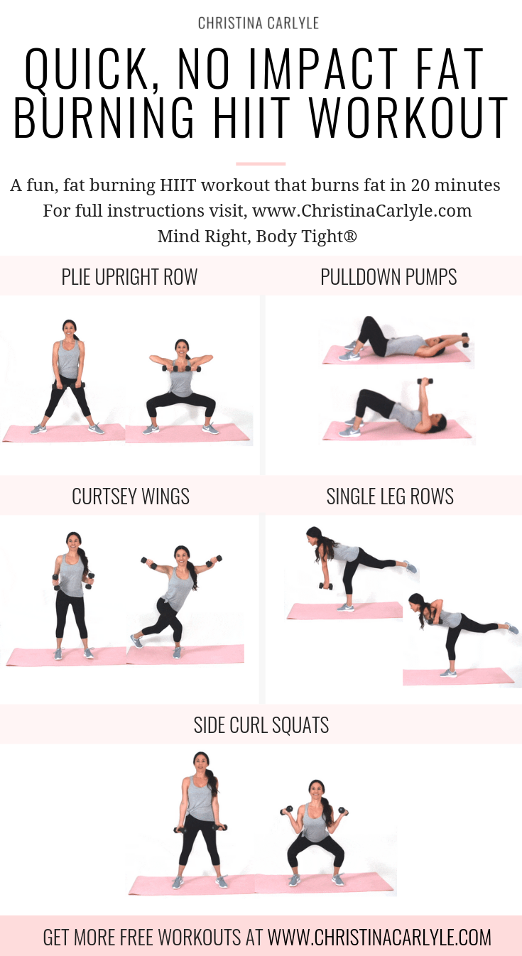 Low Impact HIIT Workout Christina Carlyle
