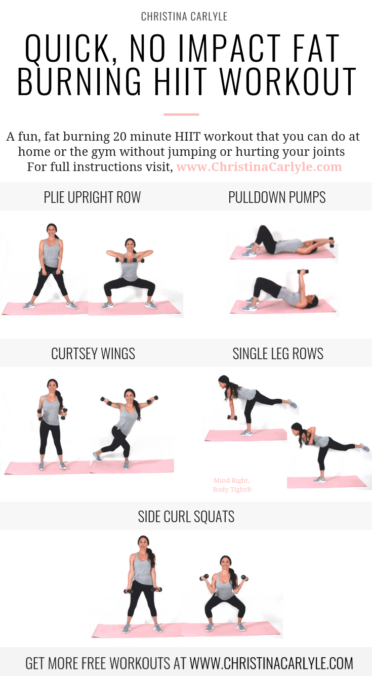 Low Impact Hiit Workout For Women Christina Carlyle