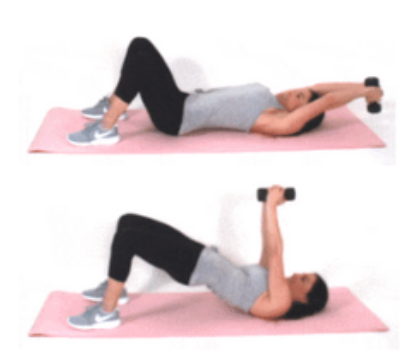Pulldown Pumps HIIT exercise being done by Christina Carlyle