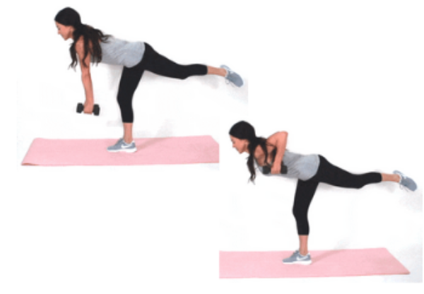 Single Leg Row HIIT Exercise done by Christina Carlyle