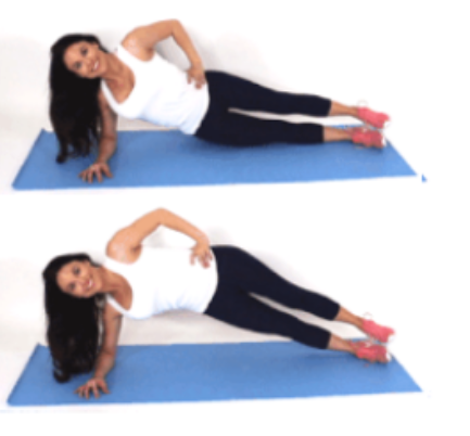 Side Plank Pulse Exercise done by Christina Carlyle