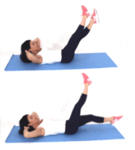 Toe Tap Crunches Leg and Ab Exercise Christina Carlyle