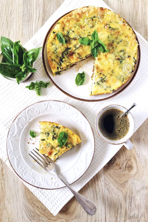 Healthy Frittata on a kitchen table