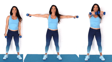 In and Out Extension HIIT exercise being done by Christina Carlyle