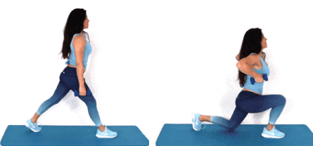 Lunge Pull Up HIIT Exercise done by Christina Carlyle
